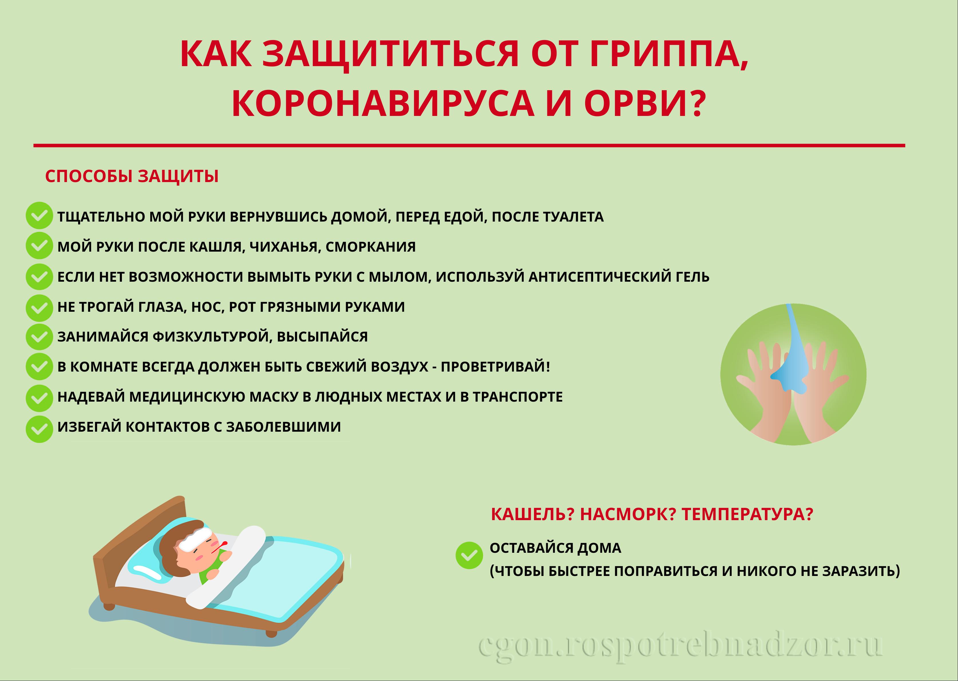 Информация для профилактики коронавирусной инфекции(COVID-19), ОРВИ и гриппа.