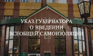 В Воронежской области введен режим всеобщей самоизоляции